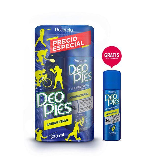 Deo Pies Antibacterial 260 Duo Gratis Deo Pies mini Deo Pies Antibacterial Duo 260 ml Gratis Deo Pies mini
